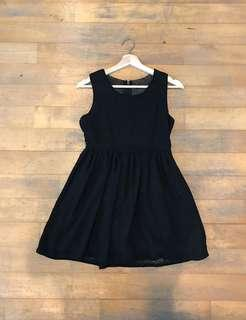 SALE Black Glittery Skater Dress