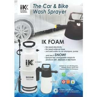 IK Foam - Car Snow Foam Sprayer - with 3 different foam wetness! - Sole Distributor