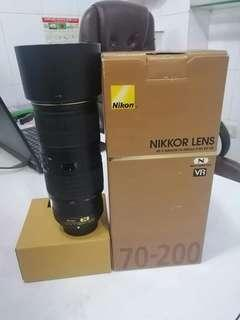 Nikon 70-200 1:4G ED VR (Full frame)