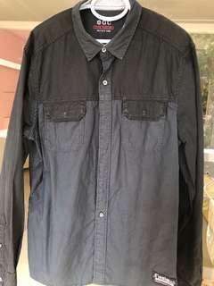 Fire Sale! ESPRIT Long sleeve size M black/dark blue shirt