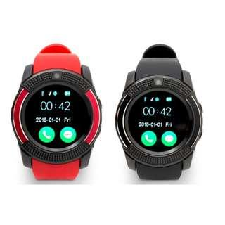 V8 Smart Watch Bluetooth Sport Watch Android Support TF SIM Smartwatch / RED