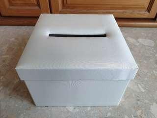 Simple White Satin Wedding Angbao Box