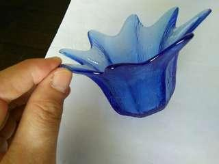 "Blue ""Star"" Tea light holder"