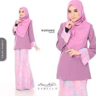 KURUNG KEDAH NOOR ARFA VS SABELLA (GRAPE PURPLE)