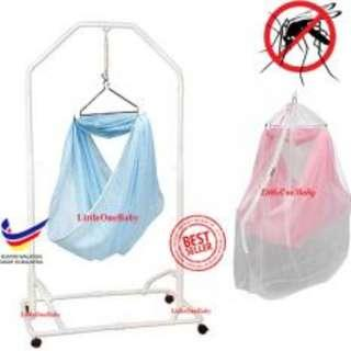 Sprint Cots SET - PINK with mosquitoes net