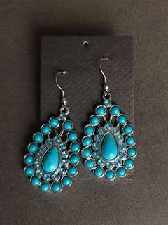 Acrylic stones Turquoise earrings