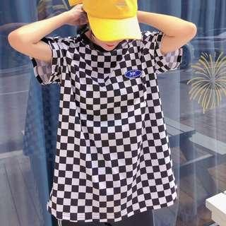 Checkered simple tee
