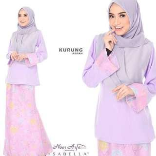 KURUNG KEDAH NOOR ARFA VS SABELLA (LIGHT PURPLE)