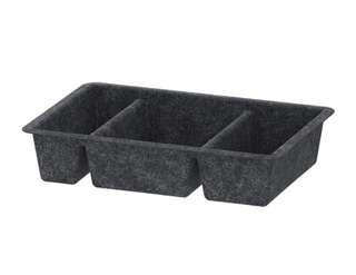 IKEA dark gray tray compartment organizer