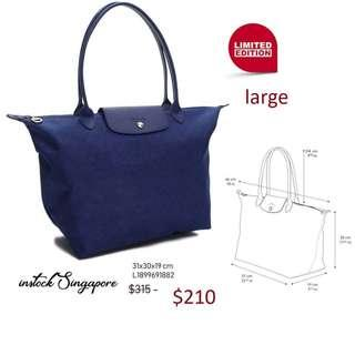 5079c2eabba READY STOCK authentic new Longchamp Large Longhandle shopping bag Le PLIAGE  Jean