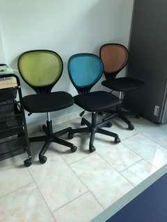 3 Small desk chairs