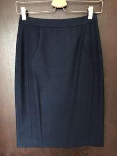 Reiss tailored skirt in navy