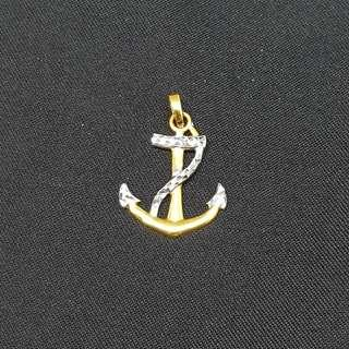 🚚 22K Gold Anchor (Two-tone) Pendant