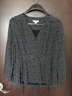 Whistles heart print tie top (new)