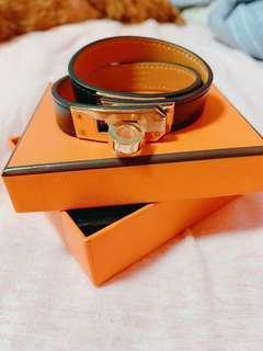 全新Hermes Bracelet Kelly double tour 手帶 手鐲 玫瑰金 rose gold