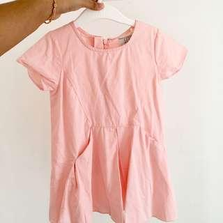 49. Kids dress Peach Top