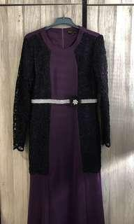 💕Preloved: First Lady Exclusive Purple Lace Dress Size M