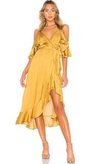 Bea Golden Wrap Dress XXS