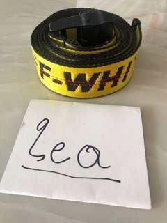 Off White FW17 Yellow Industrial Belt