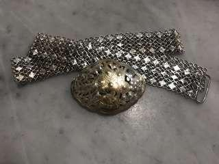 🚚 1930s Peranakan Silver Belt with Phoenix Buckle