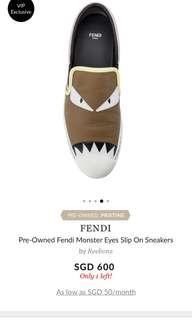 Fendi Monster Eyes Slip On Sneakers
