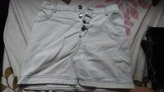 Outline Denim Skirt