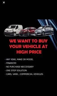 Buy in all model cars at high price
