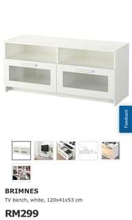 Ikea TV Cabinet brimnes white