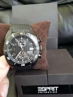 ESPRITwatches Original full black leather