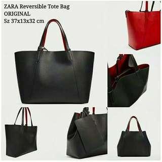 Zara Tote Bag 2 in 1 reversible ORIGINAL (NO NEGO!!!!)