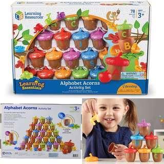BNIB: Learning Resources Alphabet Acorns Activity Set, 78 Pieces, Assorted Colors