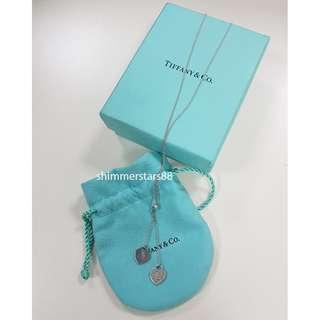 Authentic Tiffany & Co Return to Tiffany's mini double heart necklace, RRP$210, Free express delivery