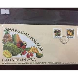 First Day Cover 1986- Malaysia National Fruits Series #563