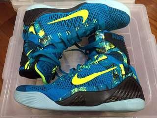 "Nike Kobe 9 Elite KB9 Neo Turquoise ""Perspective"" US10"