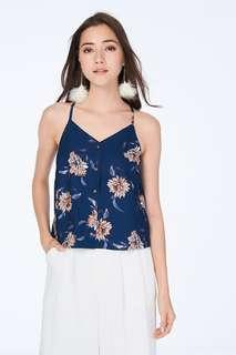 BN TCL Sanna Floral Printed Top in Navy