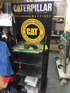 Caterpillar Shoe Display rack