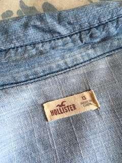 Hollister vintage light blue denim shirt