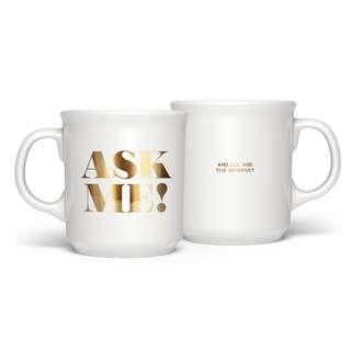 "美國Fred & Friends「問我」馬克杯(""ASK ME"" Mug)"