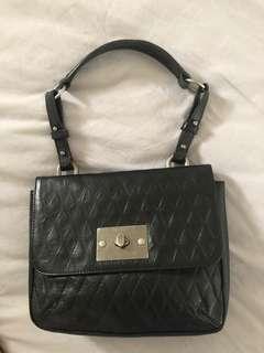 Sambag vintage look shoulder leather bag
