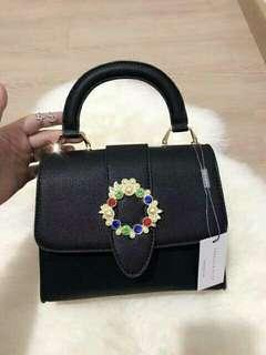Charles and keith embelilished buckle ( no nego)