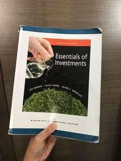 可議 Essentials of Investment McGraw Hill International Edition (8th)