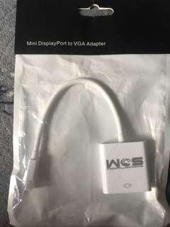 Mini display port to vga adaptor