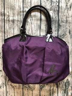🚚 真品 Agnes b. 紫色三層肩背包手提包側背包