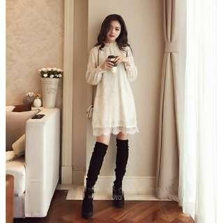 長袖洋裝 雪紡裙