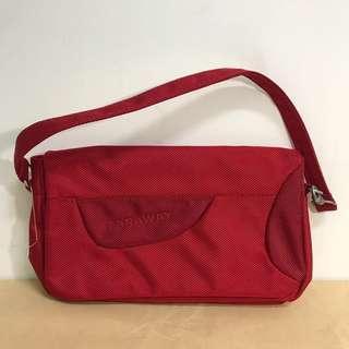 🚚 合購優惠商品❤️紅色帆布加厚手拿手提包