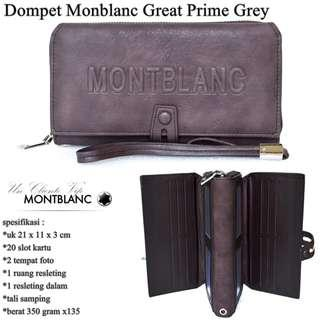 Dompet impor montblank great prime high quality-grey
