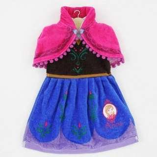 (((清貨特價$79包順豐自取))) 原價1800yen 日本直送魔雪奇綠 Frozen 安娜 Anna 抹手巾 毛巾