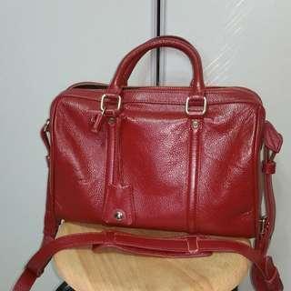 🚚 #dressforsuccess30 red leather bag