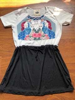 全新雪紡連身洋裝