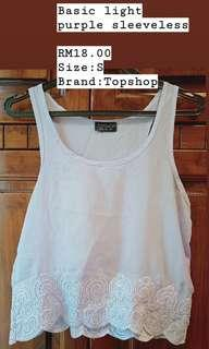 Topshop basic light purple top